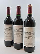 6 bouteilles 2 bts : CHÂTEAU PONTET CANET 2002 5è GC Pauillac (étiquettes léger déchirées)