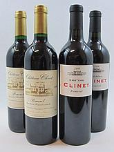 6 bouteilles 3 bts : CHÂTEAU CLINET 1998 Pomerol