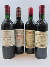 12 bouteilles 4 bts : CHÂTEAU GAZIN 1985 Pomerol (base goulot)
