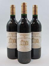 12 bouteilles BAHANS HAUT BRION 1993 Pessac Léognan