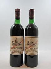 6 bouteilles CHÂTEAU BEYCHEVELLE 1975 4è GC Saint Julien (4 base goulot