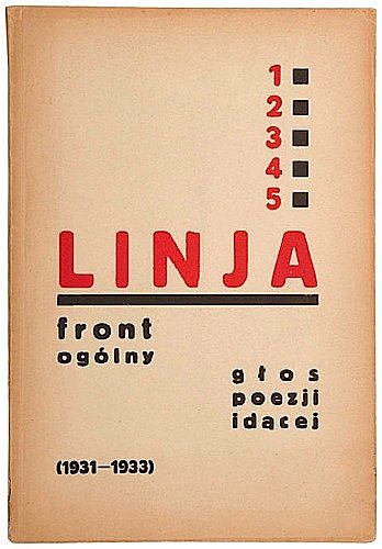 [Pologne] Linja Collection complète FRONT OGOLNY. N° 1 à 5 (1931-1933). Cracovie, Ed. Jalu Kurek, ...