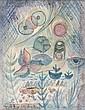 Hans REICHEL (Wurtzbourg, 1892- Paris, 1958) COMPOSITION Aquarelle et encre sur papier