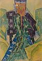 Natalia GONTCHAROVA (Nagaïevo, 1881 - Paris, 1962) PERSONNAGE (TETE ORANGE), 1912 Dessin au crayon de couleur et crayon noir sur pap...