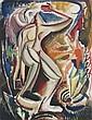 Geer VAN VELDE (Lisse, 1898- Cachan, 1978) PERSONNAGE DEBOUT, circa 1930 Aquarelle et fusain sur papier