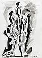 André MASSON (Balagny-sur-Thérain,1896- Paris, 1987) DEMIURGE, 1974 Dessin à l'encre et lavis d'encre sur papier