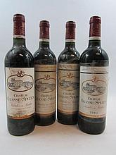 6 bouteilles 1 bt : CHÂTEAU CHASSE SPLEEN 1999 Moulis (étiquette sale et tachée)