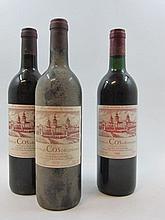 3 bouteilles 1 bt : CHÂTEAU COS D'ESTOURNEL 1985 2è GC Saint Estèphe (base goulot)