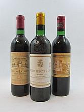 3 bouteilles 1 bt : CHÂTEAU LA LAGUNE 1970 3è GC Haut Médoc