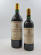 2 flacons 1 bt : CHÂTEAU PICHON COMTESSE DE LALANDE 1984 2è GC Pauillac