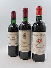 6 bouteilles 2 bts : CHÂTEAU POUJEAUX 1985 Moulis (base goulot, étiquettes léger tachées)