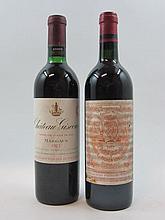 6 bouteilles 2 bts : CHÂTEAU GISCOURS 1971 3è GC Margaux (base goulot)