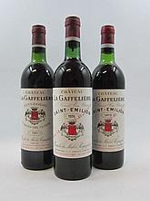 11 bouteilles 3 bts : CHÂTEAU LA GAFFELIERE 1973 1er GCC (B) Saint Emilion (1 haute épaule, 2 mi-épaule)