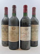 10 bouteilles  1 bt : CHÂTEAU LA LAGUNE 1990 3è GC Haut Médoc (étiquette tachée ) 1 bt : CHÂTEAU LA LAGUNE 1988 3è GC Haut Médoc (...
