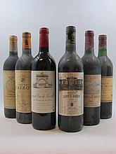 10 bouteilles 1 bt : DOMAINE DE CHEVALIER 1990 CC Pessac Léognan