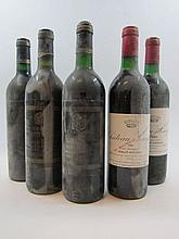 12 bouteilles 4 bts : CHÂTEAU SENEJAC 1983 Haut Médoc (étiquettes fanées, tachées)