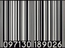 Yvonne FISCHER ® 097130 189026 - 1989 Acrylique sur toile (blanc sur noir) accompagnée d'un cartel