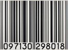 Céline CAZALS ® 097130 298018 - 1990 Acrylique sur toile (noir sur blanc) accompagnée d'un cartel