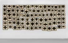 Allan MC COLLUM (Né en 1944) COLLECTION OF 90 DRAWINGS (No. 1) - 1988-90 Crayon sur carton dans cadre de l'artiste