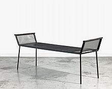 Franz WEST (1947 - 2012) SANS TITRE (LIEGE) - Circa 1988 Banquette en métal