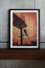 ¤ Shepard FAIREY (Alias OBEY GIANT) Américain - Né en 1970 Bayshore Billboard - 2011 Pochoir, peinture aérosol et collages sur papier