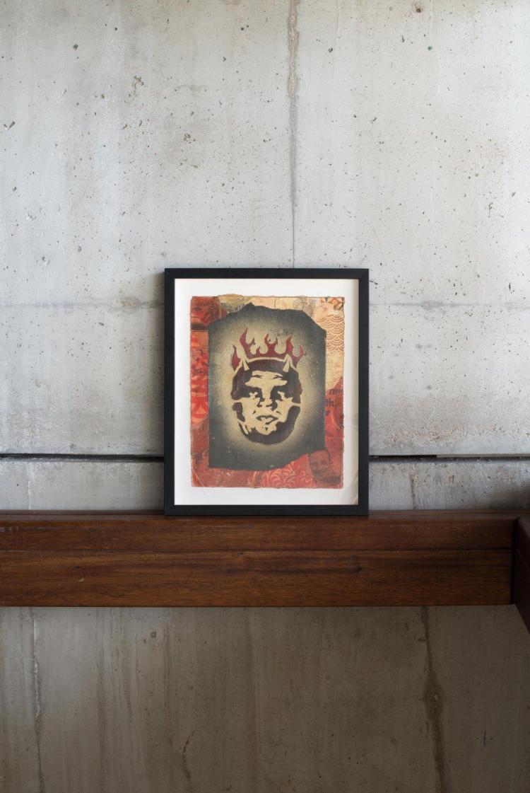 Shepard fairey alias obey giant am ricain n en 1970 a for Pochoir peinture
