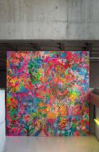 ¤ Ryan McGINNESS Américain - Né en 1972 Liquid everything - 2008 Acrylique sur toile