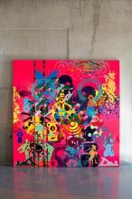 ¤ Ryan McGINNESS Américain - Né en 1972 Pretending to be human - 2011 Acrylique sur toile