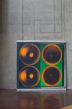 ¤ Stephen SPROUSE Américain - 1953 - 2004 Speaker stack- 1998 Encre sérigraphique et acrylique sur toile