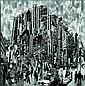 Serge MENDJISKY (né en 1929) CENTRE POMPIDOU, 2007 Photographies marouflées sur toile, Serge Mendjisky, Click for value