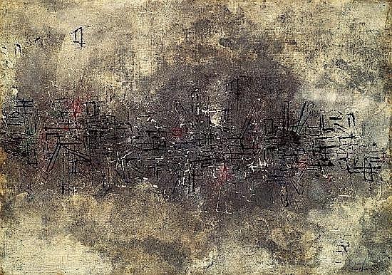 Don FINK (né en 1923) COMPOSITION, 1956 Huile sur toile