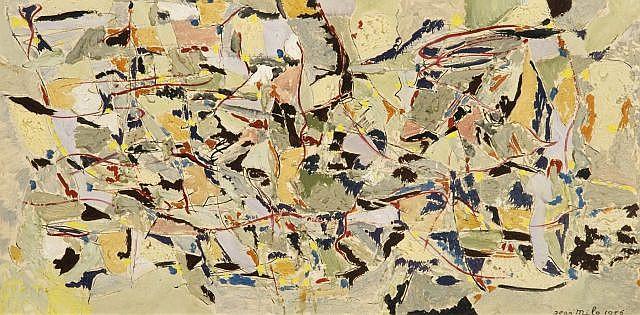 Jean MILO (1906-1991) RETOUR AUX SOURCES, 1956 Huile sur panneau d' isorel