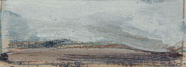 Fermin AGUAYO (1926-1977) CIEL MADRILENE, 1971 Huile sur papier
