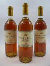 3 bouteilles CHÂTEAU DE FARGUES 1990 Sauternes  (Cave 8)