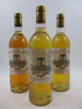 3 bouteilles CHÂTEAU FILHOT 1985 1er cru Sauternes (étiquettes très sales) (Cave 18)