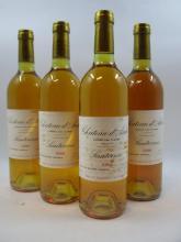 12 bouteilles CHÂTEAU D''ARCHE 1988 2è cru Sauternes (étiquettes tachées par l''humidité) Caisse bois d''origine