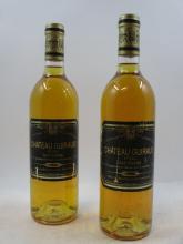 6 bouteilles CHÂTEAU GUIRAUD 1988 1er cru Sauternes (étiquettes abimées)