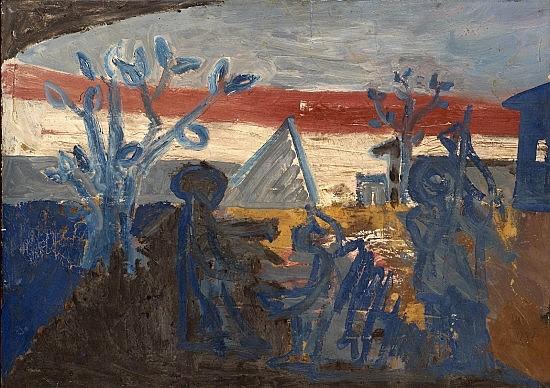 Miguel-Angel CAMPANO (né en 1949) SANS TITRE, 1987 Huile sur toile