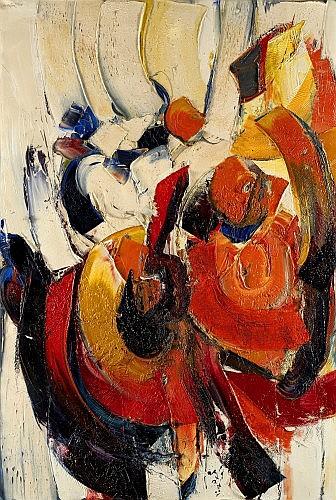 Jan MEYER () NAISSANCE DE IGOR, 1965-1966 Huile sur toile