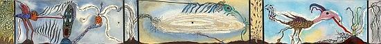 Alberto Porta ZUSH (né en 1946) ESURENOS, circa 1987-1988 Technique mixte sur papier