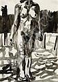Marc DESGRANDCHAMPS (né en 1960) NU DE FEMME Aquarelle sur papier, Marc Desgrandchamps, Click for value