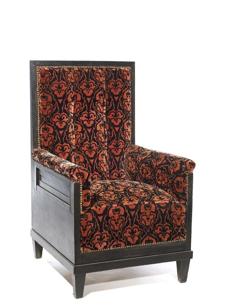 travail art nouveau autrichien fauteuil haut dossier. Black Bedroom Furniture Sets. Home Design Ideas