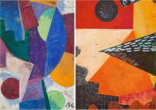Boris LACROIX (1902-1984) Deux compositions géométriques