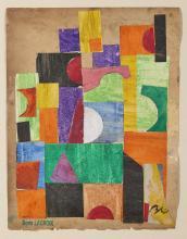 Boris LACROIX (1902-1984) Composition géométrique - 1932