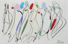 Jean BURKHALTER (1895 -1982) « LIGNES ET SURFACE II » – Circa 1955