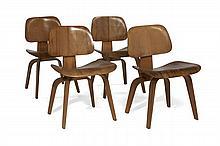 Charles & Ray EAMES (1907-1978 & 1912-1988) Quatre chaises