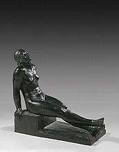 Robert WLERICK 1882 - 1944 L'OFFRANDE - 1936-1937 Bronze à patine brun noir