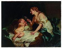 Jean-François de Troy Paris, 1679 - Rome, 1752 Vénus et l'Amour Toile