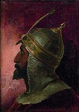 Isidore Pils Paris, 1813 - Douarnenez, 1875 Etude de chef mamelouk Huile sur toile