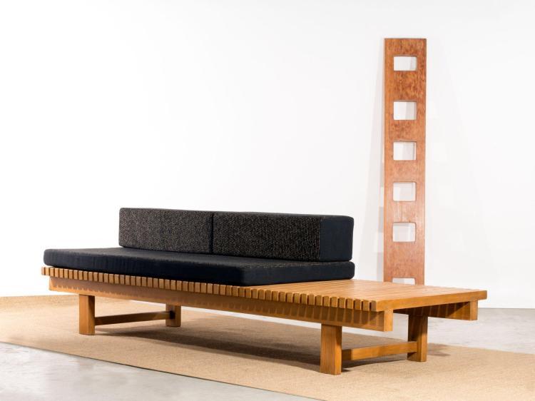 charlotte perriand 1903 1999 banc lattes 1968 pi temen. Black Bedroom Furniture Sets. Home Design Ideas